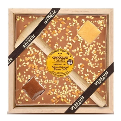 Salted butter fudge chips-chocolate with a hammer 400g