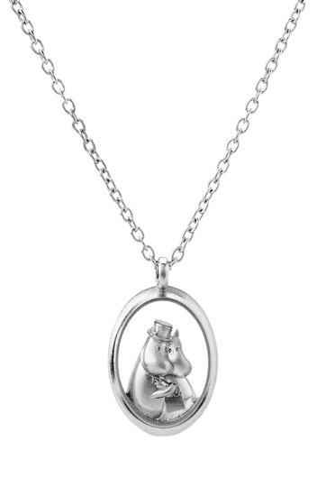Saurum Moomin big pendant, Wedding day, silver