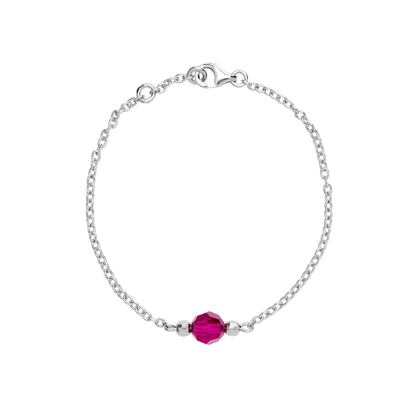 Saurum Moomin bracelet, King Ruby, silver