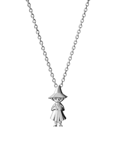 Saurum Moomin necklace, Snufkin, silver
