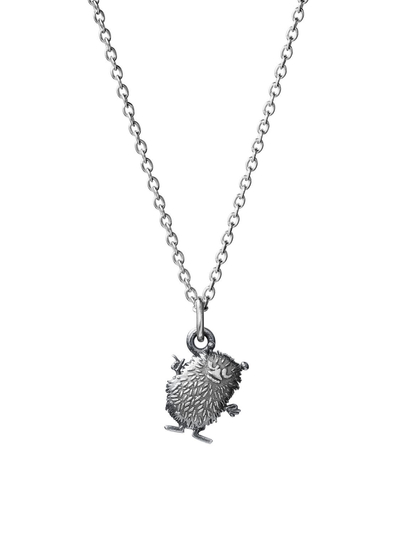 Saurum Moomin necklace, Stinky, silver