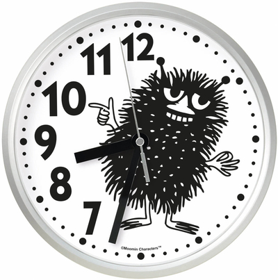Saurum Moomin wall clock, Stinky