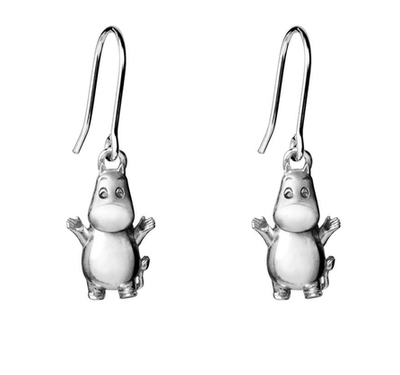 Saurum Moomintroll earrings, silver