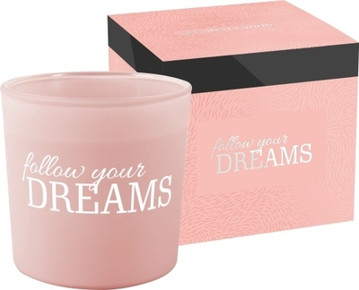 Scented candle Follow Your Dreams, light pink