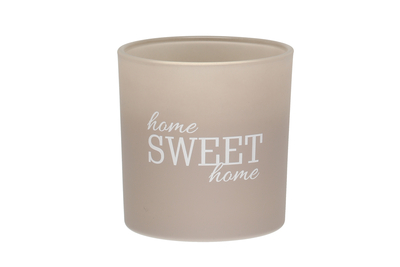 Scented candle Home Sweet Home, grey