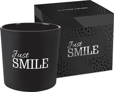 Scented candle Just Smile, black