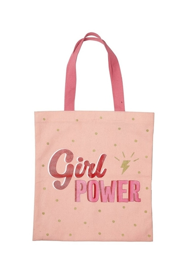 Shopper bag, Girl Power, light pink
