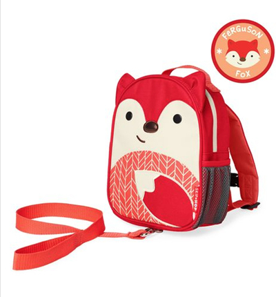 Skip Hop children's safety harness backpack, fox