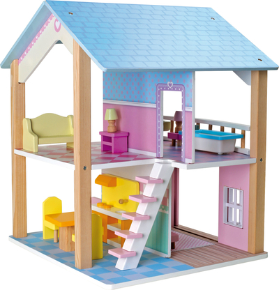 Small Foot® Dollhouse, Blue Roof