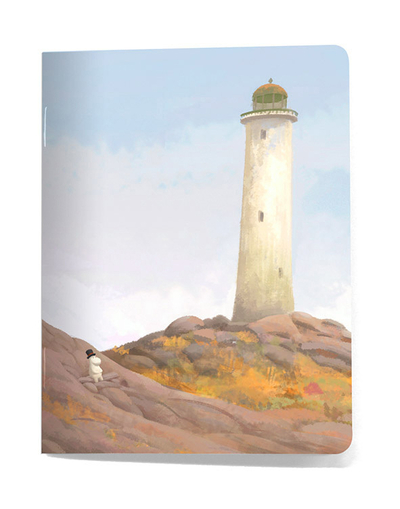 Small notebook Moomin - Lighthouse/Our sea