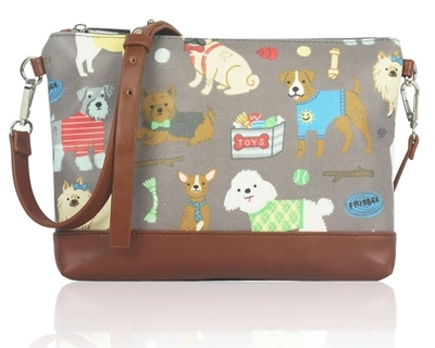 Small shoulder bag, Dogs, grey