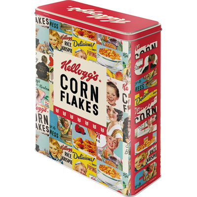 Storing can XL Kellogg's Corn Flakes Collage
