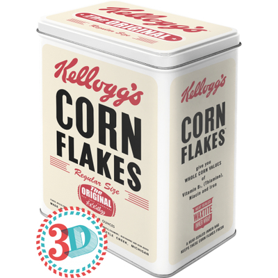 Storing tin can Kellogg's Corn Flakes The Original