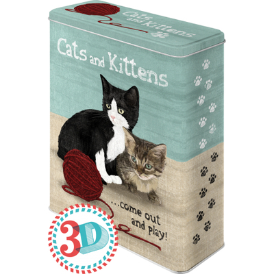 Storing tin can XL Cats and Kittens