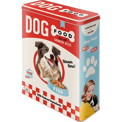 Storing tin can XL Dog Food Crunchy Bites