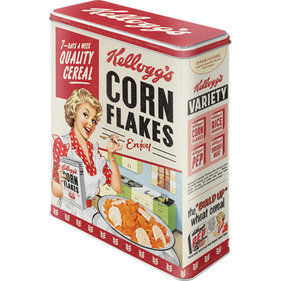 Storing tin can XL Kellogg's - Corn Flakes Quality Cereal