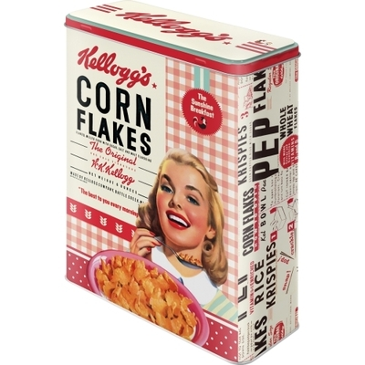 Storing tin can XL Kellogg´s Corn Flakes Collage girl
