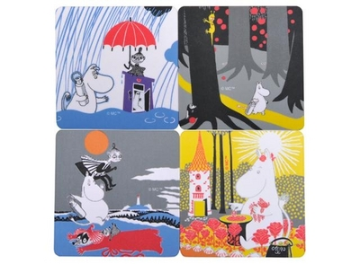 Sunshine Moomin, coasters 4-pack
