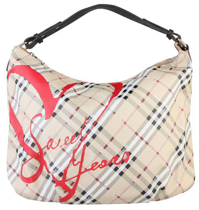 Sweet Years shoulder bag with zipper, beige