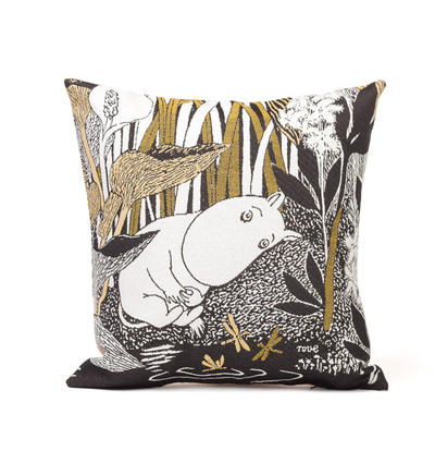Tapestry pillow cover, Moomin Daydreaming, 33X33cm, brown