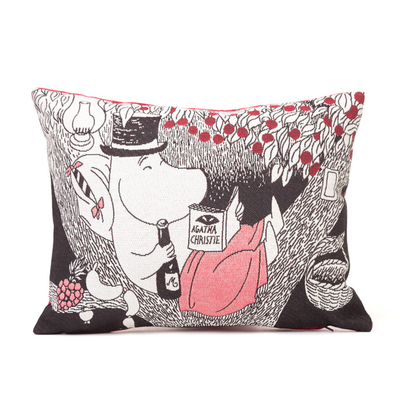 Tapestry soft pillow cover, Moominpappa in the Tree, 33X25cm, red