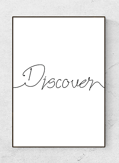 Text poster Discover, black/white, starting at 7,90€