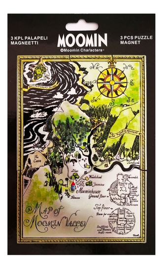The map of Moominvalley puzzle magnet