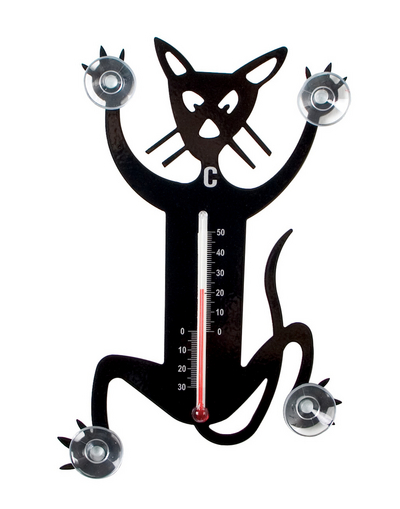 Thermometer Cat, black