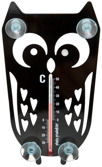 Thermometer Owl, black