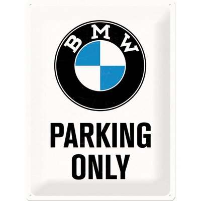 Tin Sign BMW Parking only 30 X 40cm