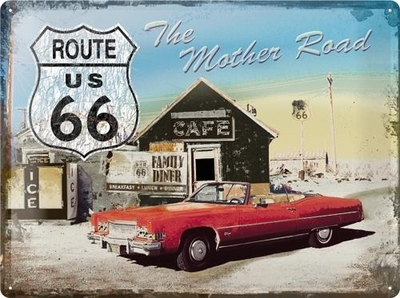 Tin Sign Route 66 30 x 40cm