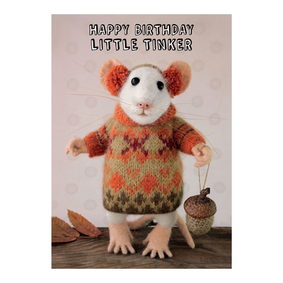"Tiny Squee Mousies greeting card ""Happy Birthday Little Tinker"""