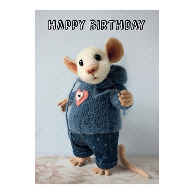 Tiny Squee Mousies greeting card Happy Birthday (boy)