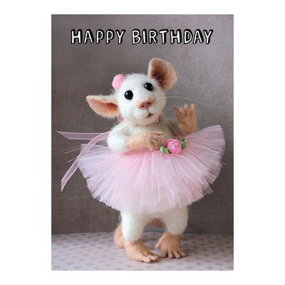 Tiny Squee Mousies kortti Happy Birthday (tyttö)