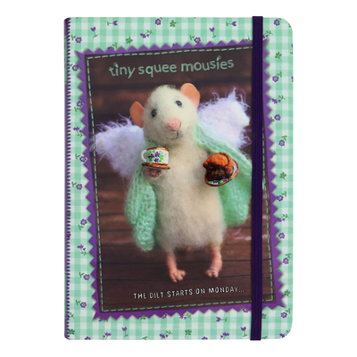"Tiny Squee Mousies notebook ""The Diet Starts on Monday"""
