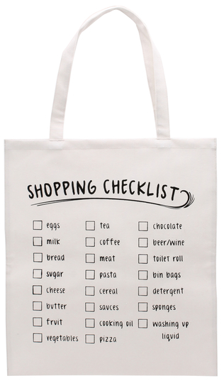 "Tote Bag ""Shopping Checklist"""