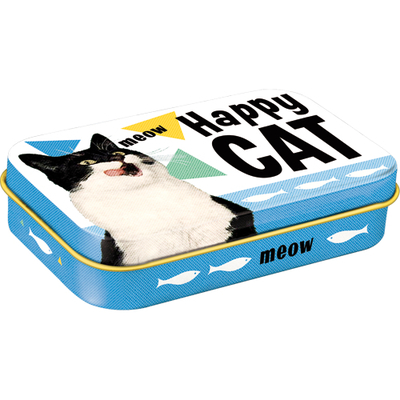 Treats tin box Happy Cat