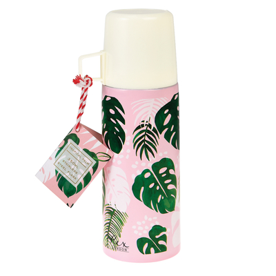 Tropical Palm thermos with a mug, 350ml