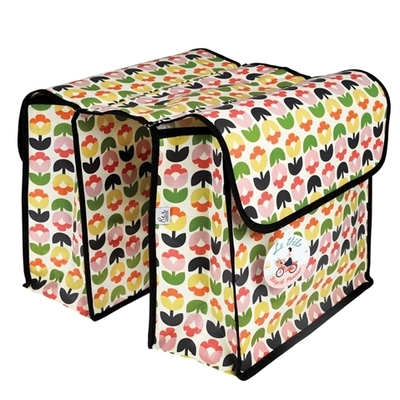 Tulip Bloom bike pannier, bicycle rack bag