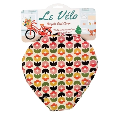 Tulip Bloom bike saddle cover