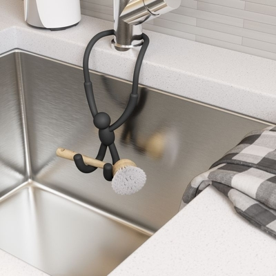 Umbra Buddy shapeable kitchen sink- / faucet hanger, black