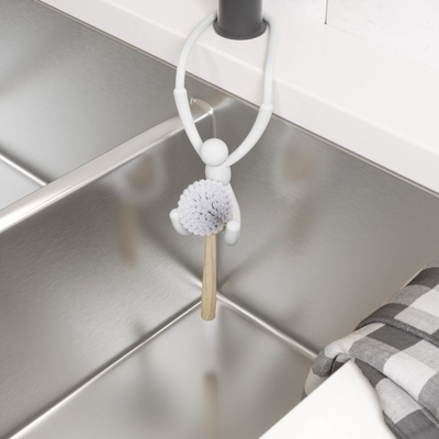 Umbra Buddy shapeable kitchen sink- / faucet hanger, white
