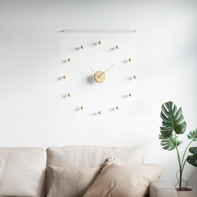 Umbra Hangtime clock, white/nature
