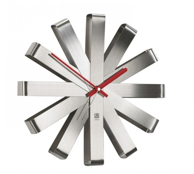 Umbra Rippon Wall clock - Seinäkello, hopea