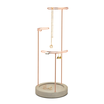 Umbra Tesora jewelry stand, grey/copper