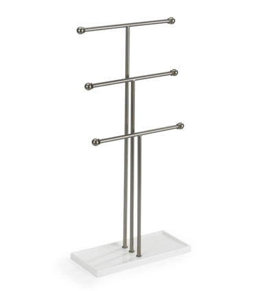 Umbra Trigem jewelry stand, white