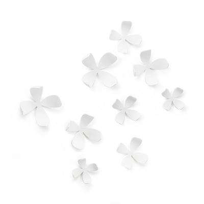 Umbra Wallflower Wall Decor, 10pcs, white