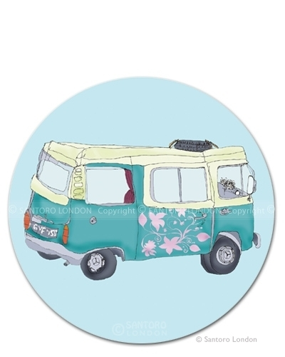 VW Campervan Postcard