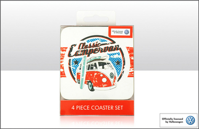 VW Collection - Classic Coaster lasinaluset, 4kpl setti