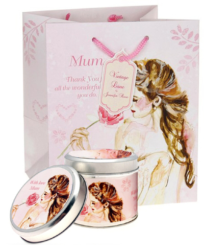 Vintage Lane scented candle and a giftbag set for Mom